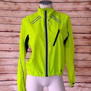 Neon Yellow Sugoi Zip Up Windbreaker/Jacket